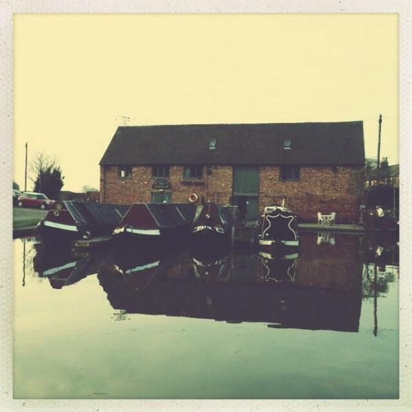 Narrowboats and Canalside Wharf, Shardlow