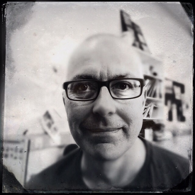 Fake tintype effect using hipstamatic iphone