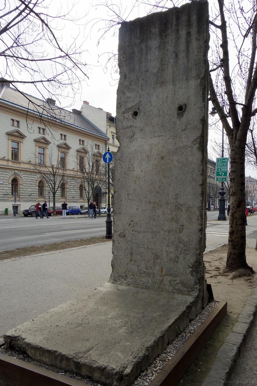 piece berlin wall terror museum budapest