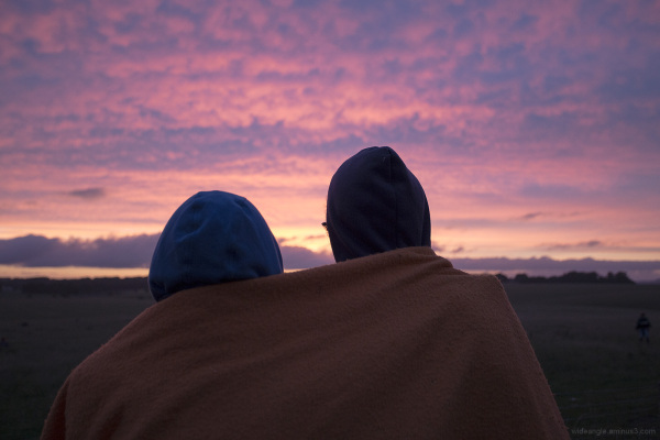 Couple at Sunrise, Stonehenge