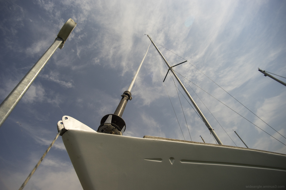dinghi boat broads norfolk rivers masts skies