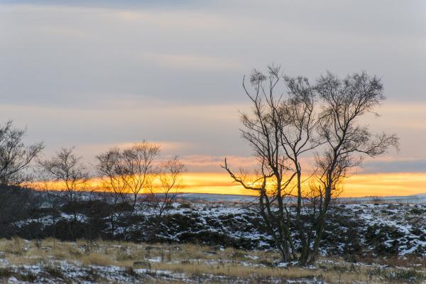 Winter Sunset at Stanton Moor