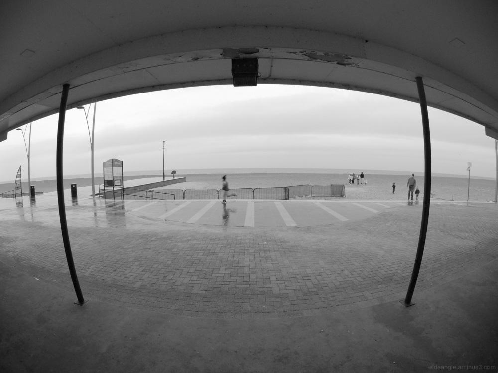 rainy day great yarmouth beach life winter