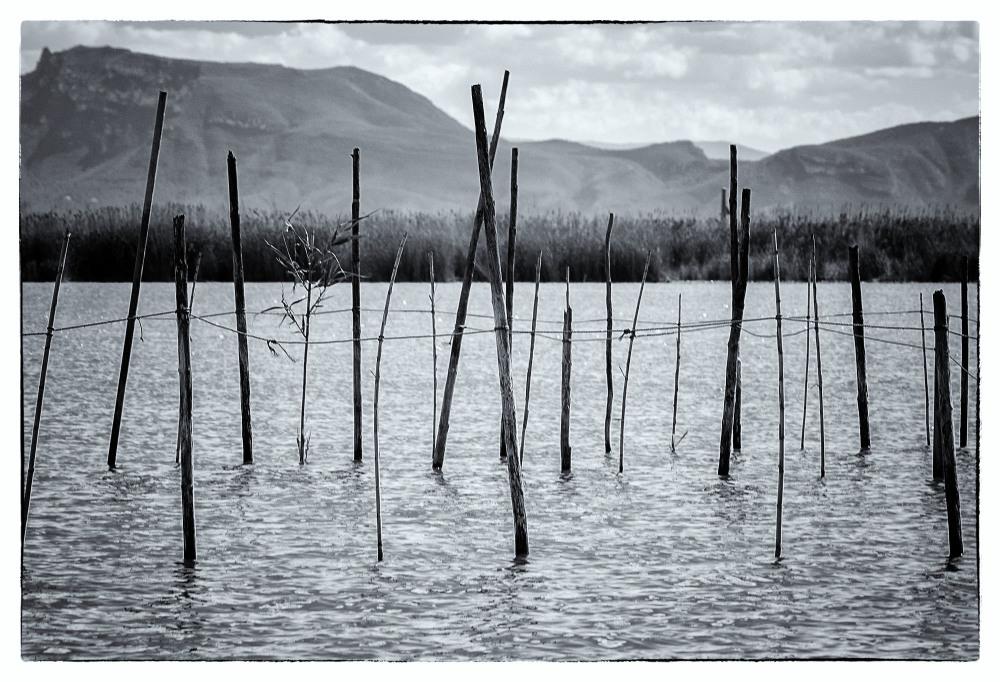 fishing traps lake albufera valencia spain