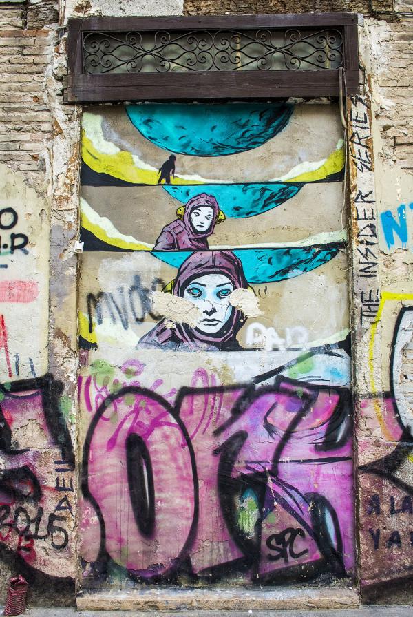 Valencia graffiti paintings art design city urban