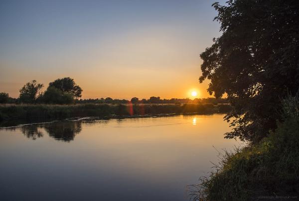 Sunset, River Trent at Shardlow