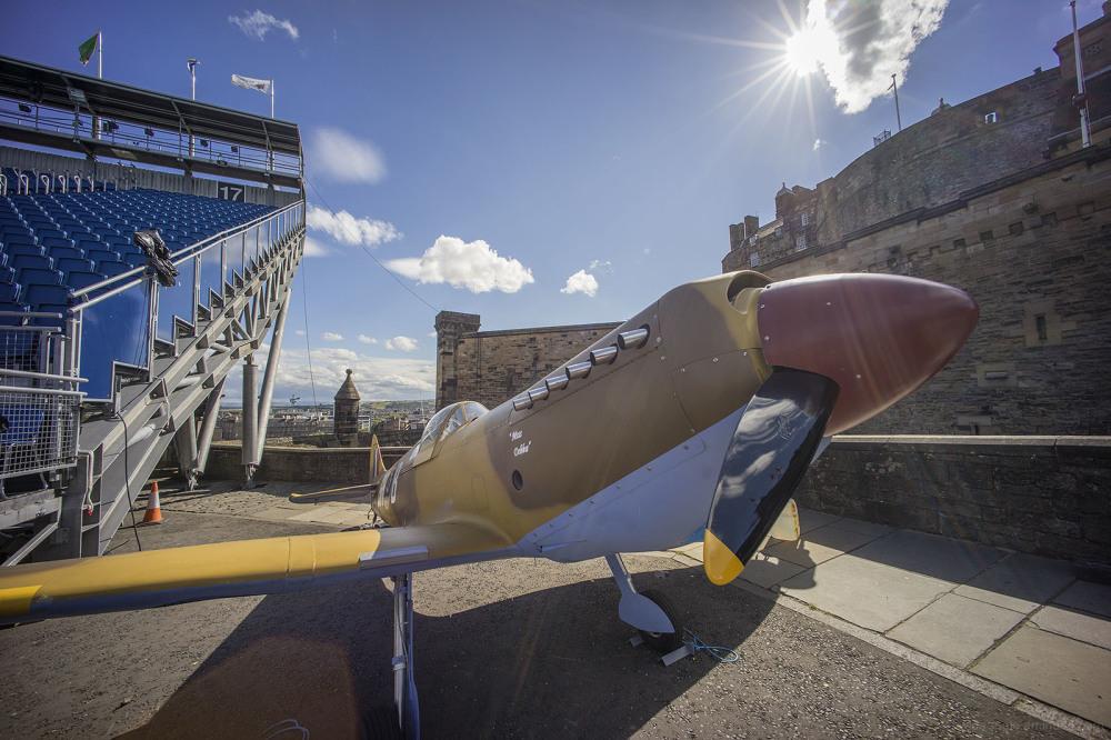 spitfire ww2 aircraft edinburgh scotland fringe