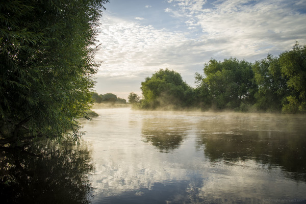 misty sunrise river trent shardlow