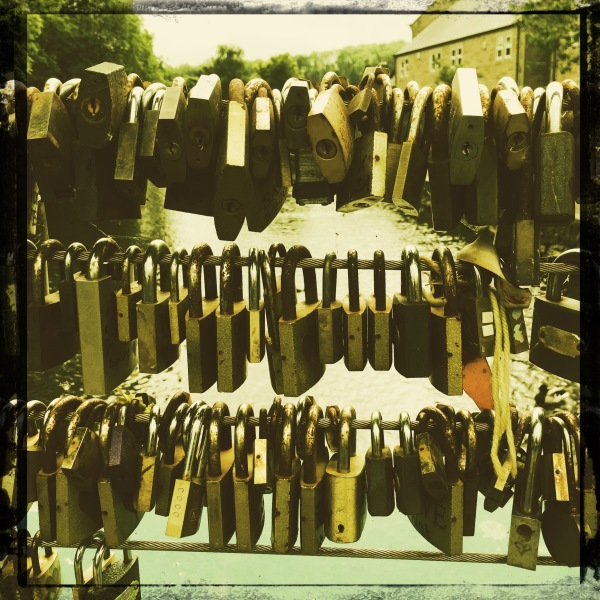 Lovers Padlocks on Bridge, Bakewell