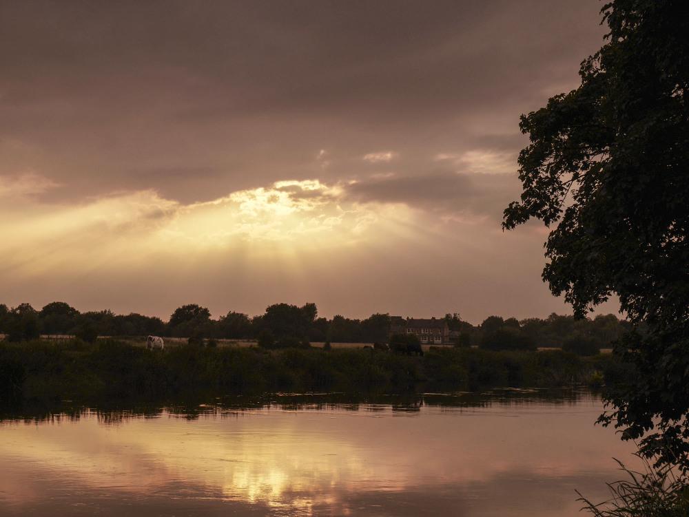 shardlow river trent sunset