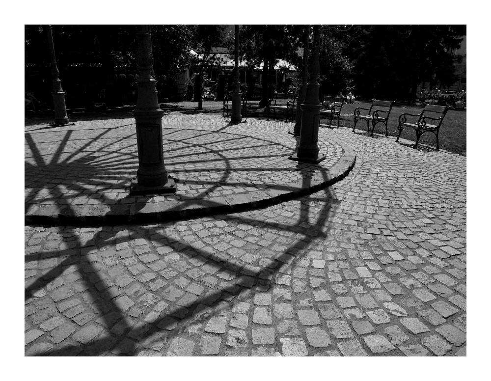 swirl pavements shadows study b&w