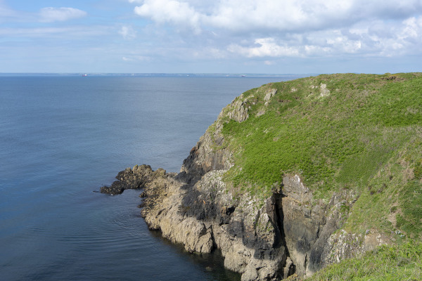 pembrokeshire coast seaside sky ocean cliffs wales