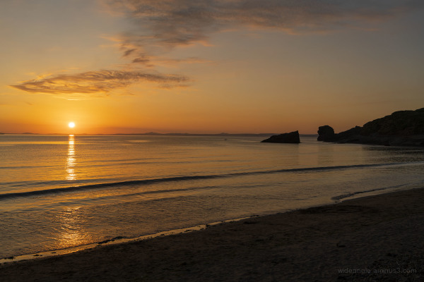 Sun Setting at Broad Haven Beach