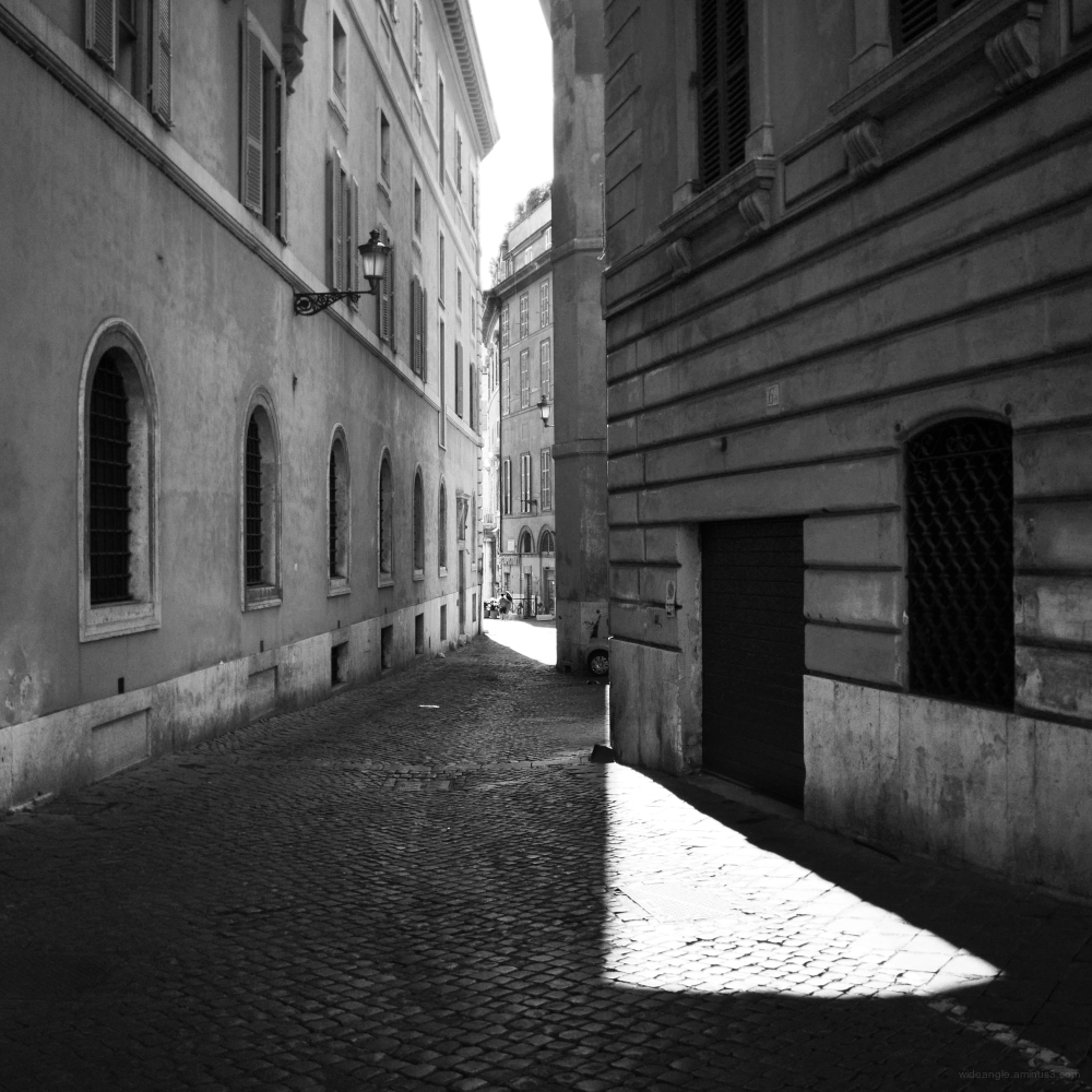 light rome city streets italy