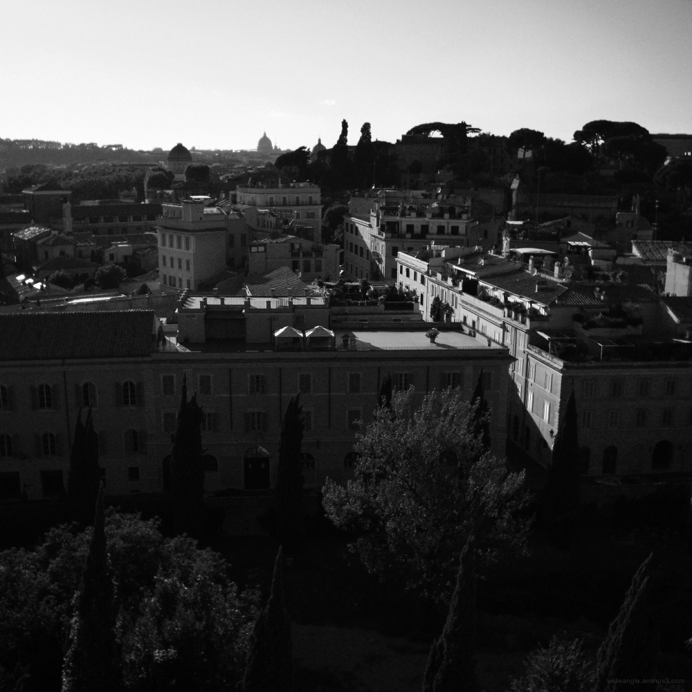 rome city antiquities b&w