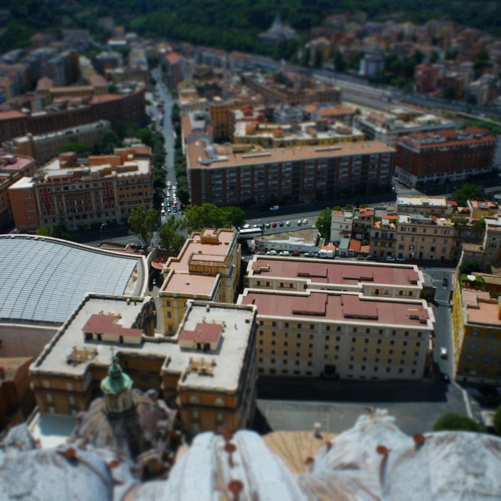 rome rooftops vatican miniatures
