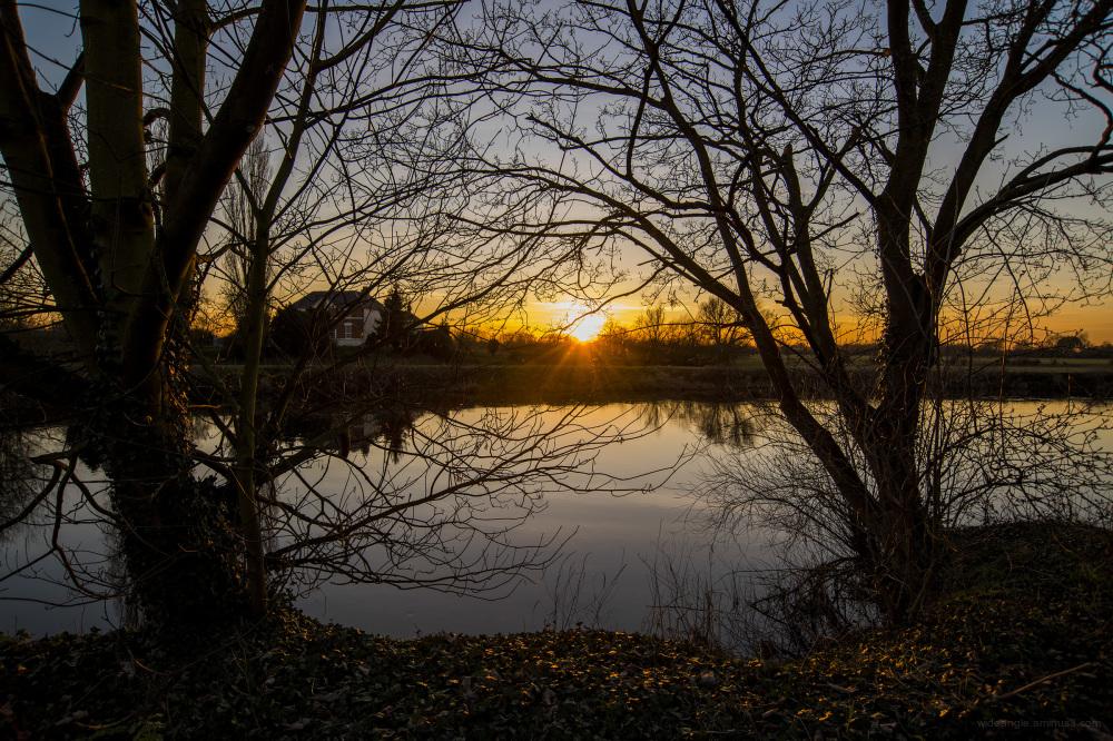 sunset shardlow river trent golden dusk
