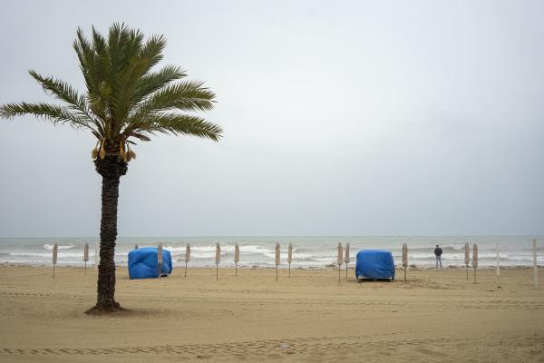 Rainy Beach Scene, Alicante