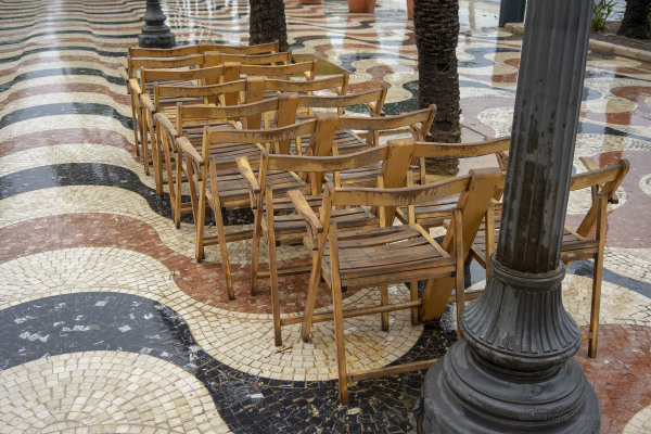 Street Chairs in Rainy Alicante