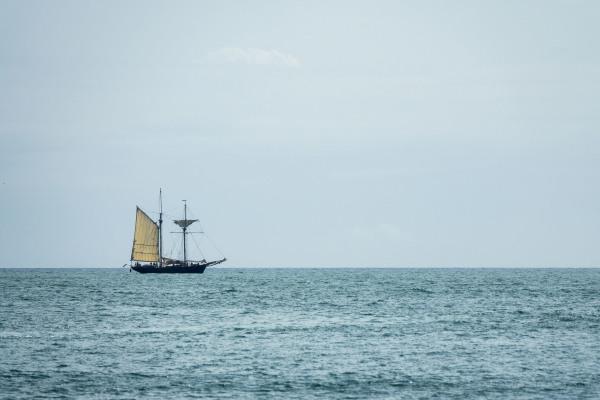 Sailboat, off South Cornish Coast