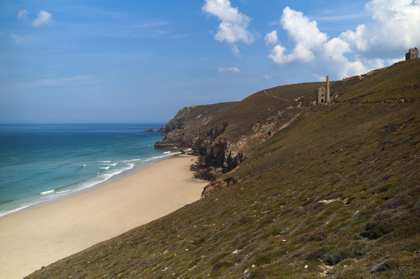 Old Tin Mine by the Coast, Cornwall
