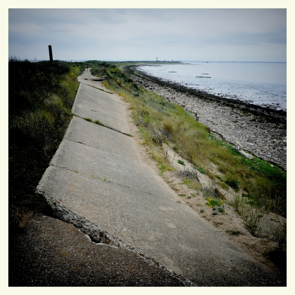 Fallen Road at Spurn Point
