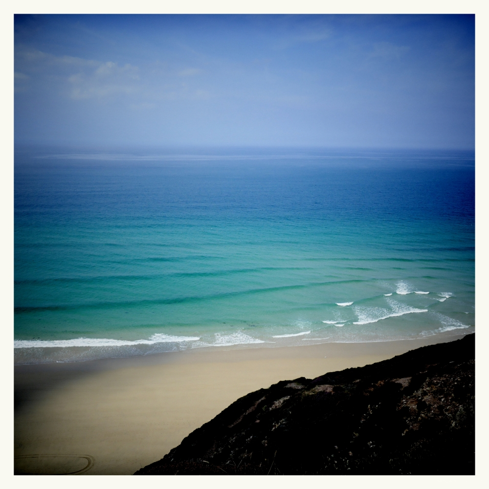 cornwall land sea colour light ocean