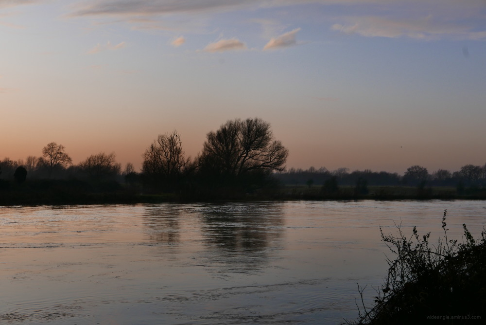 shardlow winter sunset