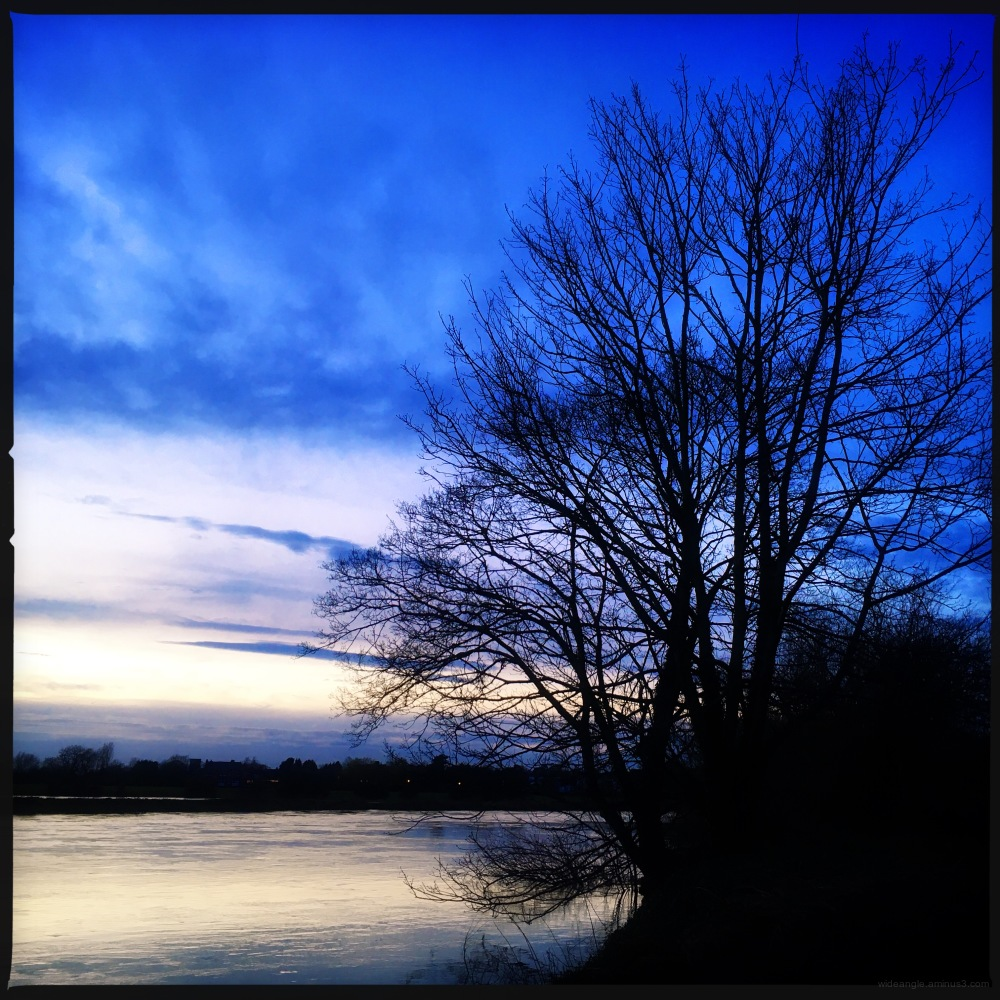 Shardlow river Trent Derbyshire sunset
