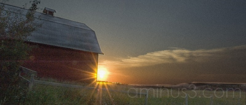 Barn Sunset..