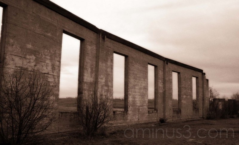 the ruins..