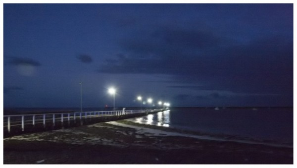 Pt Macdonnell jetty at night