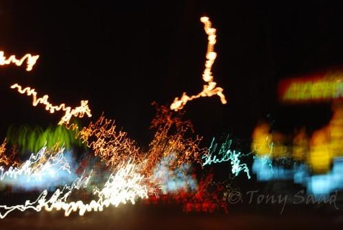 streetlights, dancing streetlights