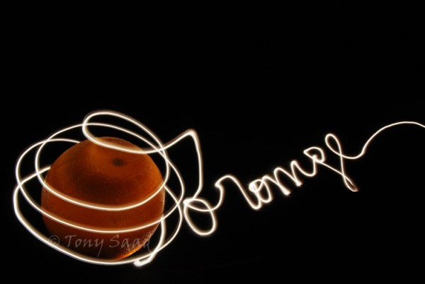 abstract, orange, light painting