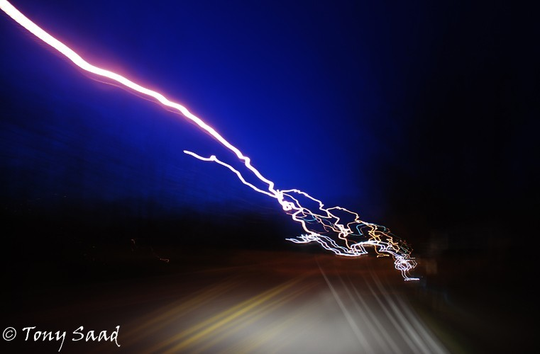 streetlights, long exposure