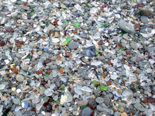 Color Pebbles on Glass Beach, Fort Bragg, CA