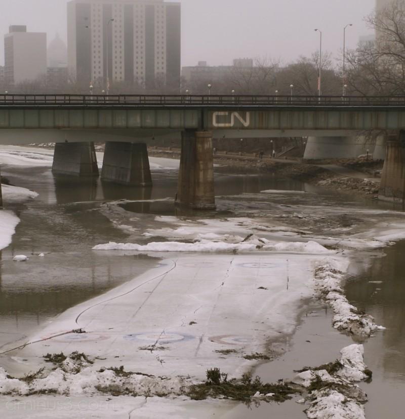 spring melt river curling winnipeg assiniboine