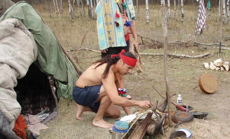 Prepping for a Sweat Lodge Ceremony