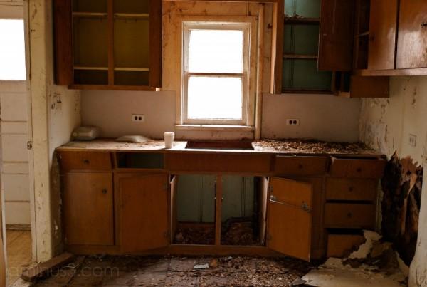 kitchen abandoned home Winnipeg Manitoba