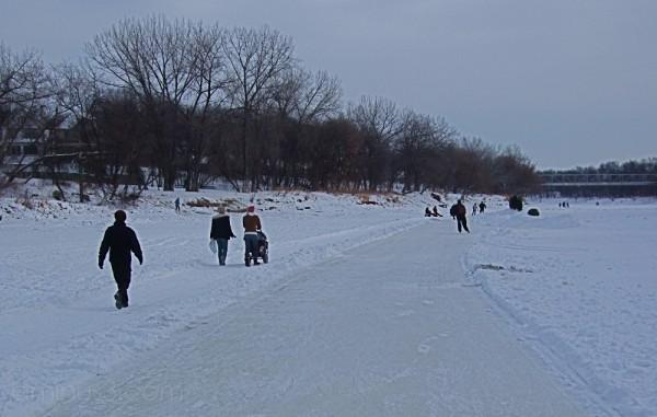 Assiniboine River Access Winnipeg Canada