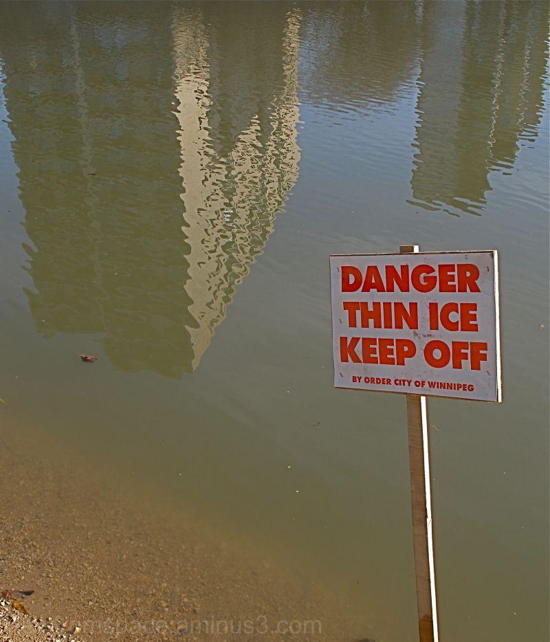 winnipeg canada thin ice assiniboine river