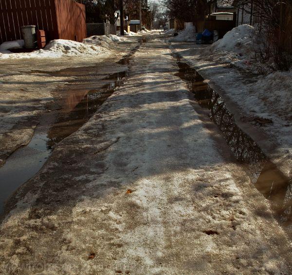 winnipeg spring melt road ruts