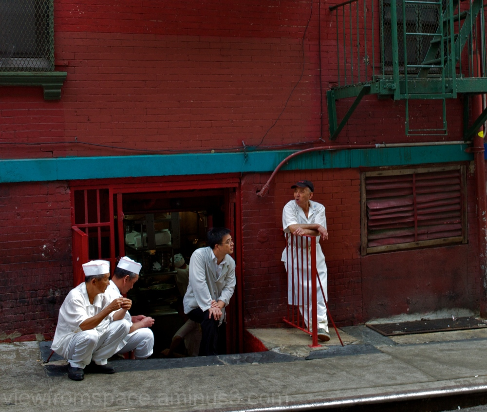 chinatown new york city usa people working