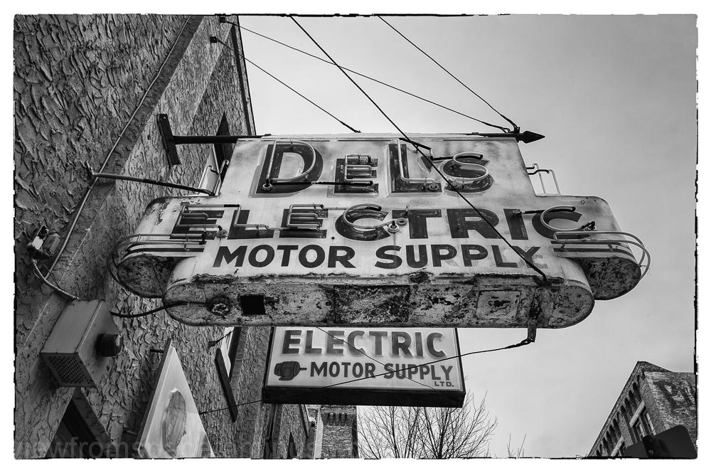 dels electric supply vintage signage winnipeg mani