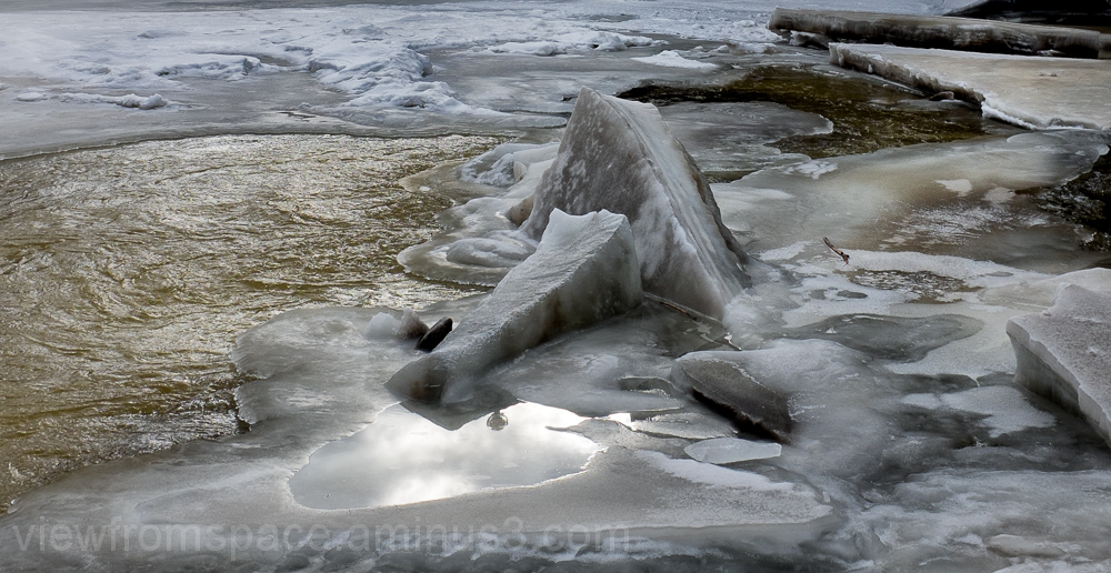assiniboine river winnipeg manitoba canada winter