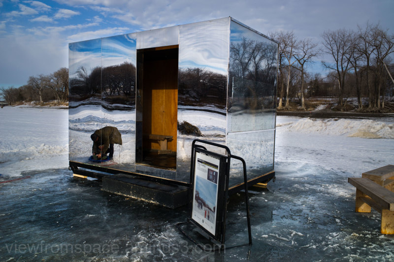 red river ice trail ice huts winnipeg canada #fork