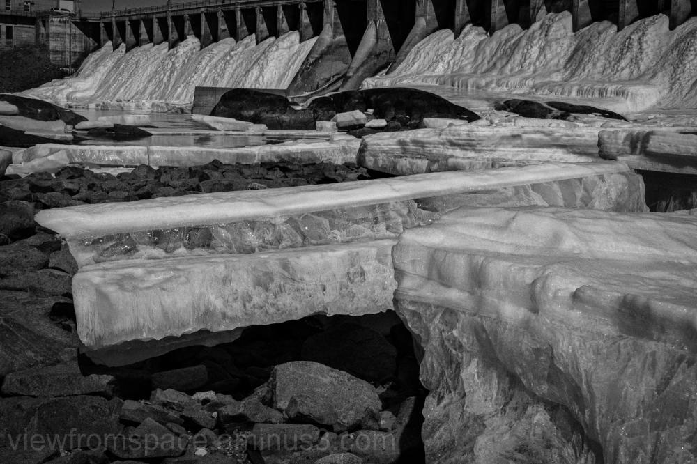 7 sisters dam wall o spring ice Manitoba canada ma
