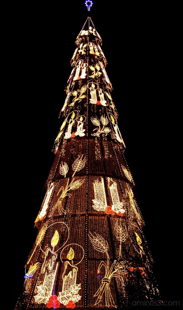 The biggest Christmas tree in Europe