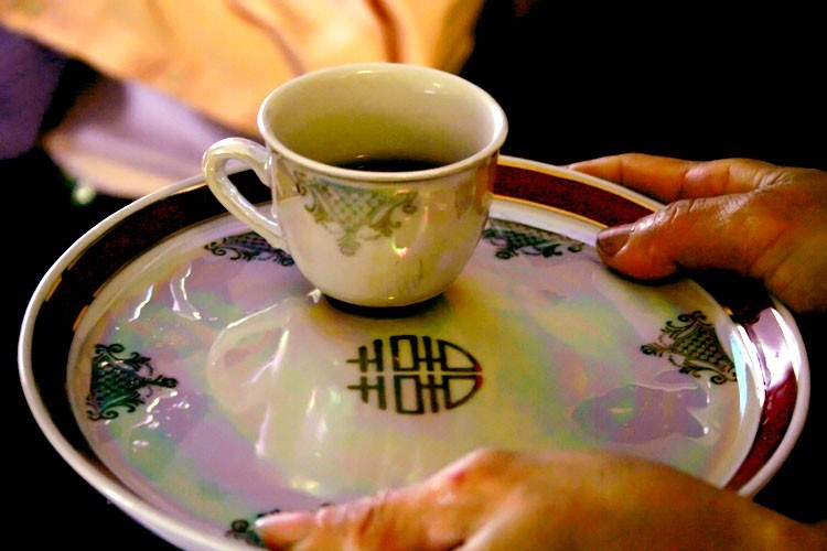 cup of tea at chinese tea ceremony