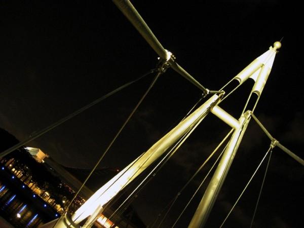 shot of bridge at night
